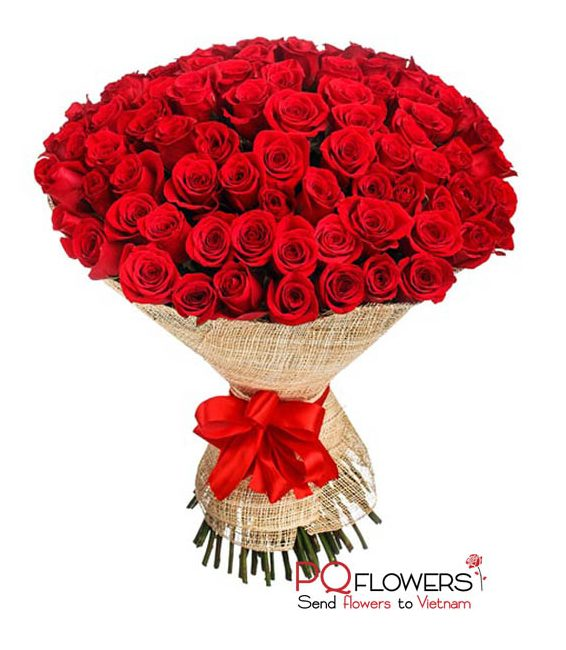 99 red roses boutiquet - send flowers to vietnam-210321