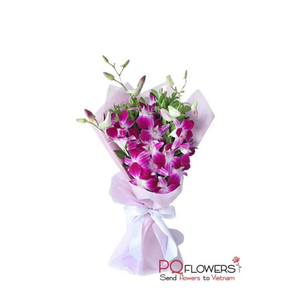 Classic - Purple Orchids Bouquet 7430-send-flowers-to-vietnam-230321