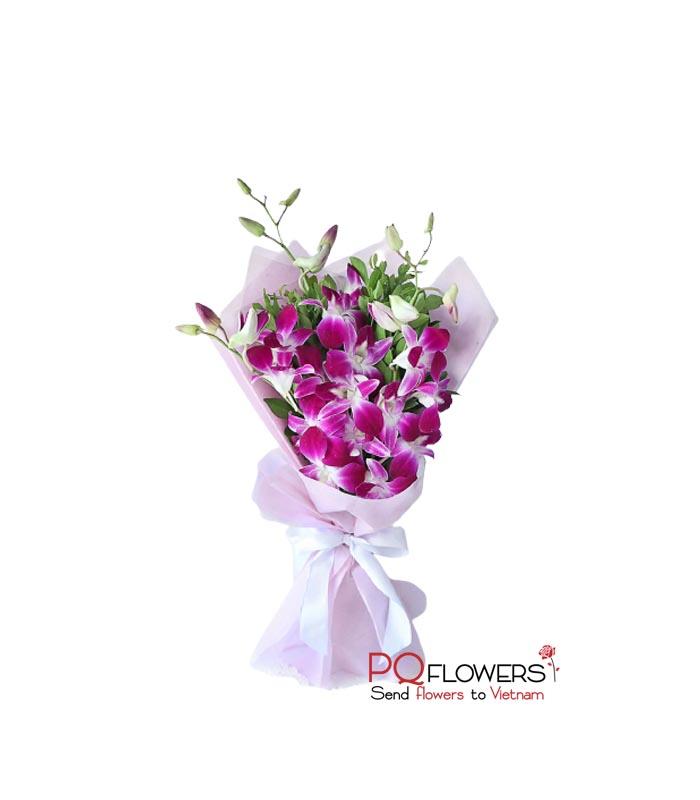 Classic - Purple Orchids Bouquet 7430-send-flowers-to-vietnam-230321
