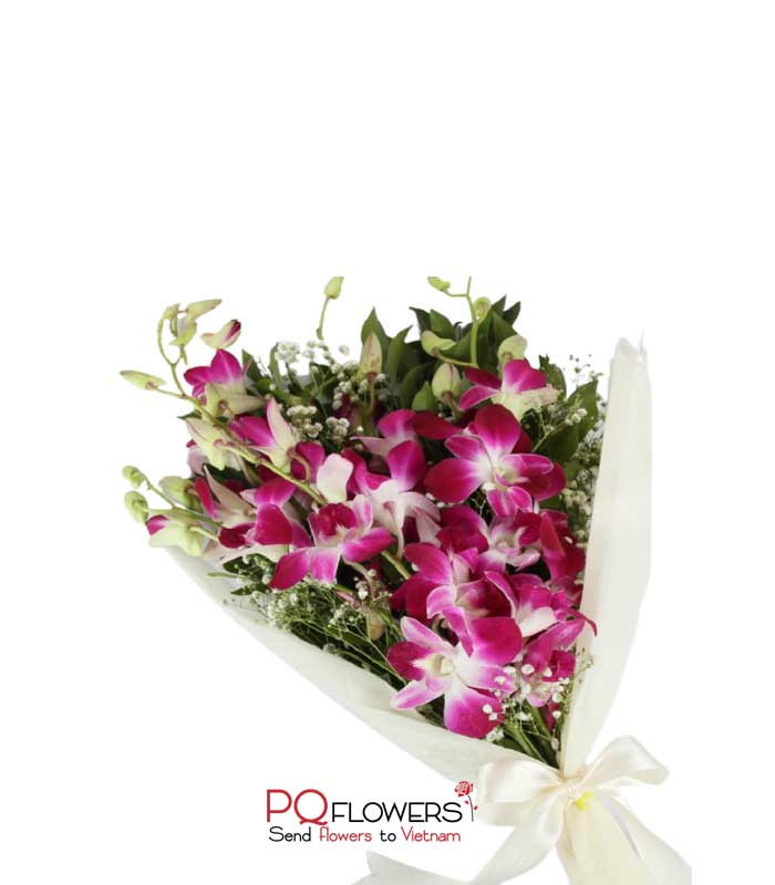 Lucky Orchids - Purple Orchids Bouquet 7304- 230321