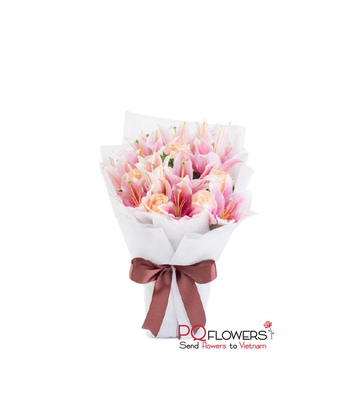 Pink love - Lily Bouquet 7243-send-flowers-to-viet-nam-220321