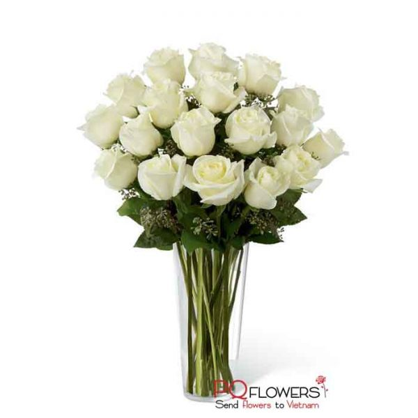 dozen and a half white -roses-18-send-flowers-to-viet-nam-180321-03