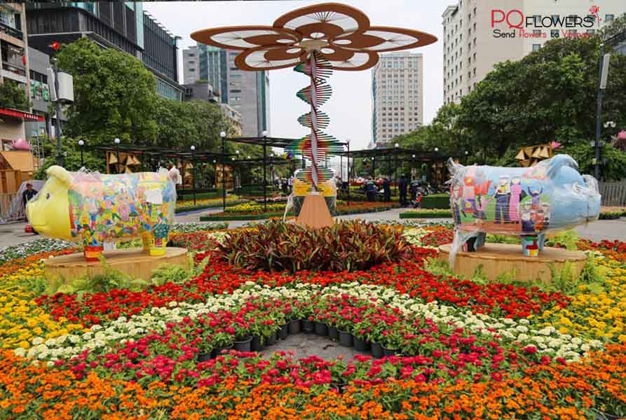 beautiful spring flower festivals in Saigon Vietnam-060421-05